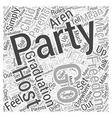 graduation parties Word Cloud Concept vector image vector image