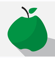 green apple and long shadow vector image vector image