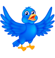 happy blue bird vector image vector image