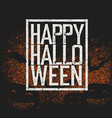 happy halloween holiday logotype vector image vector image