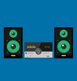 home stereo flat music systems vector image vector image