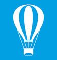 hot air balloon icon white vector image