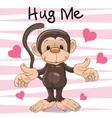Hug Me Monkey vector image vector image