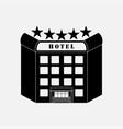 icon hotel five stars label vector image