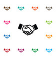 isolated friendship icon greeting element vector image vector image