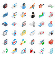 it protection icons set isometric style vector image vector image
