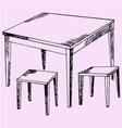 kitchen table chairs vector image vector image