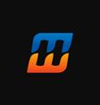 letter h e logo speed logo design concept vector image vector image