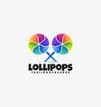 logo lollipops gradient colorful style vector image vector image