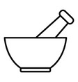 mortar and pestle line icon vector image