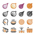 onionshallot icon set vector image vector image