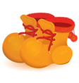 Orange boot pair vector image vector image