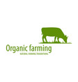organic farming concept logo vector image