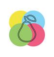 pear fresh fruit - organic vector image vector image