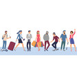 people characters various activities vector image vector image