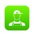 plumber icon digital green vector image