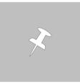 push pins computer symbol vector image