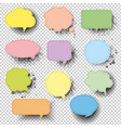 retro speech bubble with transparent background vector image