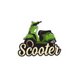 scooter logo template vector image vector image