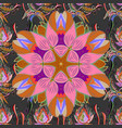 seamless flower pattern can be used for sketch vector image vector image