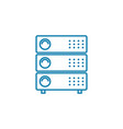 server equipment linear icon concept server vector image