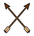 set arrows isolated icon vector image vector image