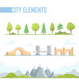 set of city elements - modern cartoon vector image vector image