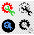 setup tools eps icon with contour version vector image vector image