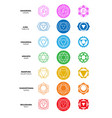 seven chakras colourful graphic set icons vector image vector image