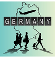 Silhouette people on germany digital board vector image vector image