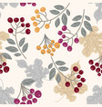 sophisticated leaves and berries vector image vector image