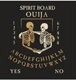 spirit board ouija with skeletons vector image vector image