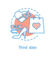 third date concept icon vector image vector image
