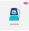 two color shoulder bag icon from fashion concept vector image vector image