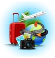 Vacation Realistic Background vector image