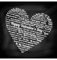 valentines day text in form heart vector image vector image