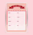 Weekly to do list vector image