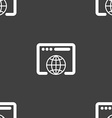 Window icon sign Seamless pattern on a gray vector image