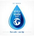 World water day banner
