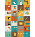Alphabet with images vector image