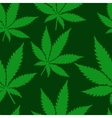 Abstract Cannabis Seamless Pattern vector image