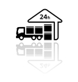 24 hour delivery symbol vector image