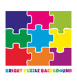9 bright colorful puzzle pieces vector image vector image