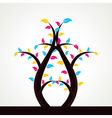 abstract colorful leaf tree vector image