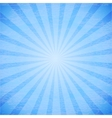 Abstract rays on blue background vector image vector image