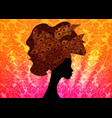 african woman in wedding hairstyle head wrap vector image vector image