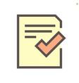 approve document icon set design 48x48 pixel vector image vector image