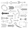 Arrows icons set sketch vector image vector image