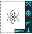 atom icon flat vector image vector image