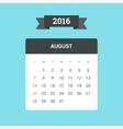 August 2016 Calendar vector image vector image